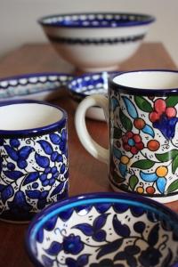Beautiful ceramics from the Hebron Glass & Ceramics Factory