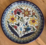 Handcrafted ceramic bowl from Hebron in Palestine. Scroll down for more pictures.